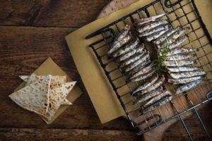 Saraghina scottadito pesce azzurro alla brace